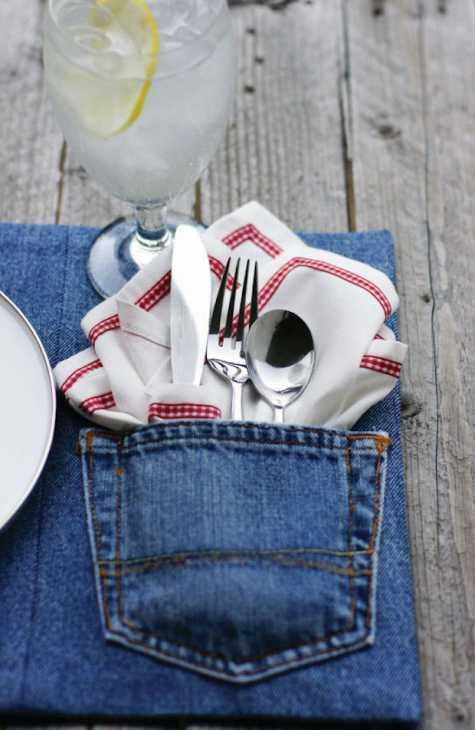 Tovagliette americane con vecchi jeans, da todaysnest.com