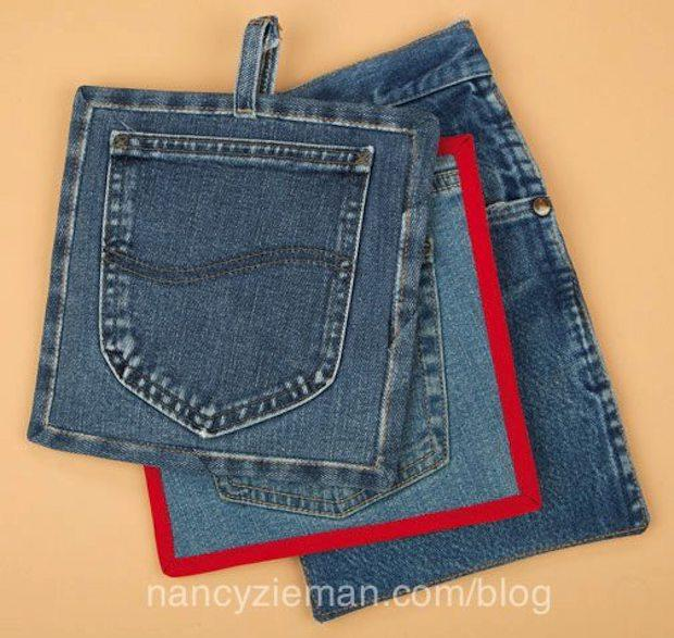 Riciclo creativo vecchi jeans: presine da forno, da nancyzieman.com