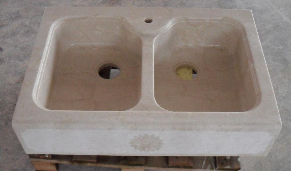 Lavabo cucina con due vasche in pietra, Marmi Piccolo