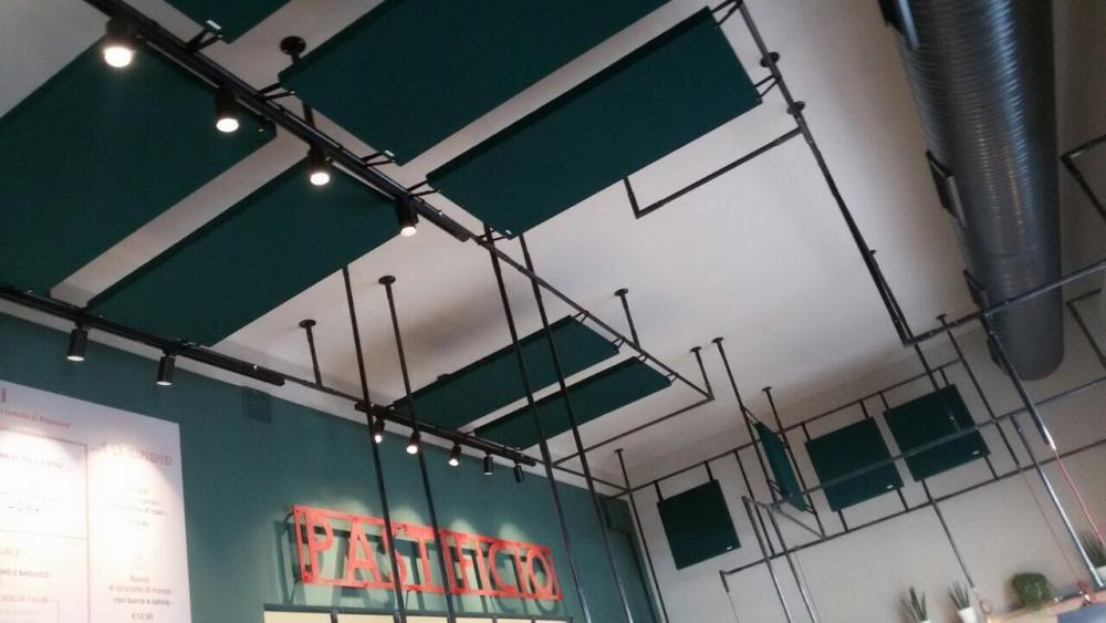 Pannelli acustici soffitto sala- Sonoryze - Oudimmo