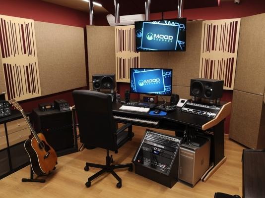 Trattamento acustico studio di registrazione by Oudimmo