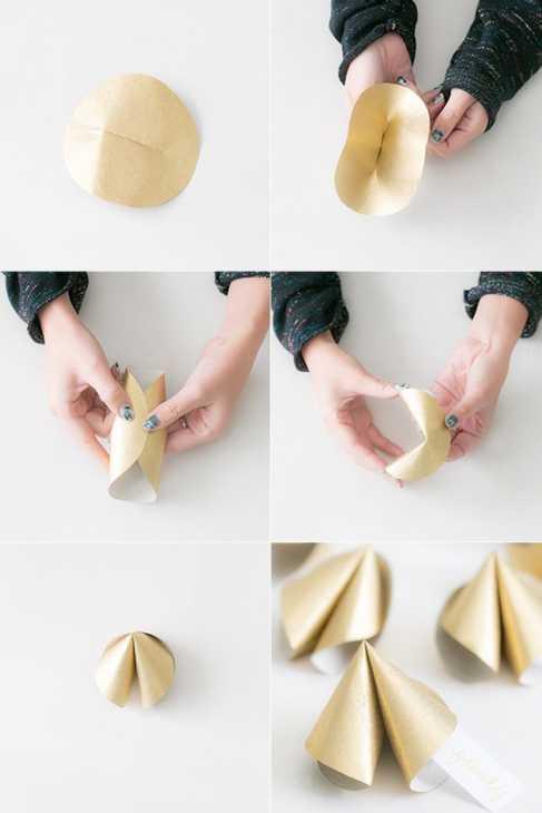 Biscotti della fortuna tavola capodanno: tutorial, da sugarandcharm.com