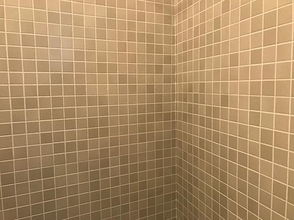 Particolare colore chiaro fuga interno doccia