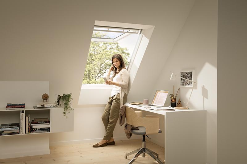 Camera studio velux finestra per tetti