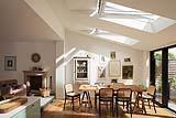 Illuminare living open space finestre Velux