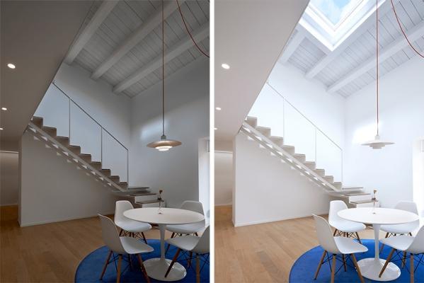 Appartamento living finestre Velux