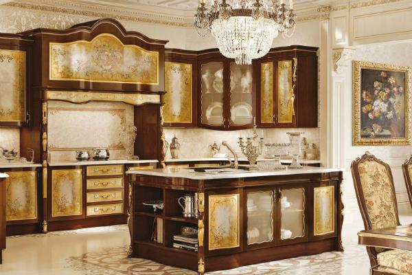 Cucine classiche foglia oro by Fanfani
