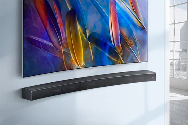 Barra surround curva di Samsung