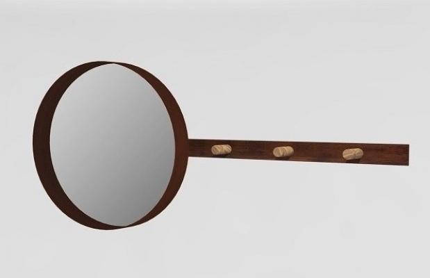 Appendiabiti con specchio rotondo per l'ingresso, da TrackDesign