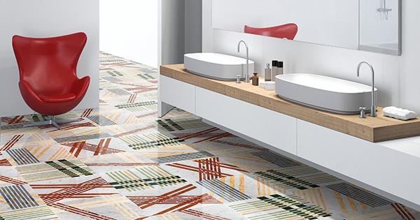 Pavimento contemporaneo in marmo Mikado di Lithoss Design