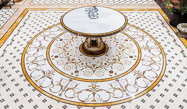 Pavimento di marmo intarsiato by Budri