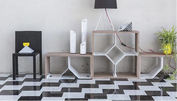 Pavimento in marmo in stile op art Pochette di Scandola Marmi