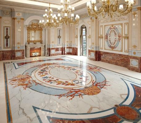 Pavimento di marmo intarsiato di Budri