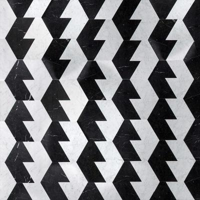 Pavimento in marmo in stile op art Profile di Scandola Marmi