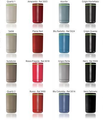 Palette cromatica delle valvole termostatiche intelligenti Now di Irsap