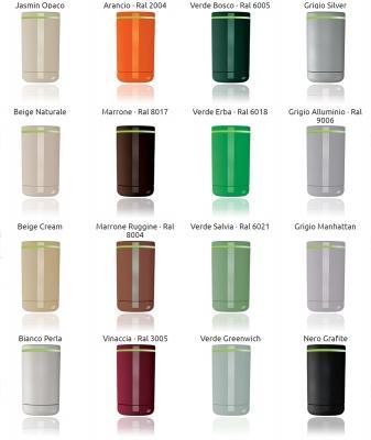 Palette di colori delle valvole termostatiche intelligenti Now by Irsap