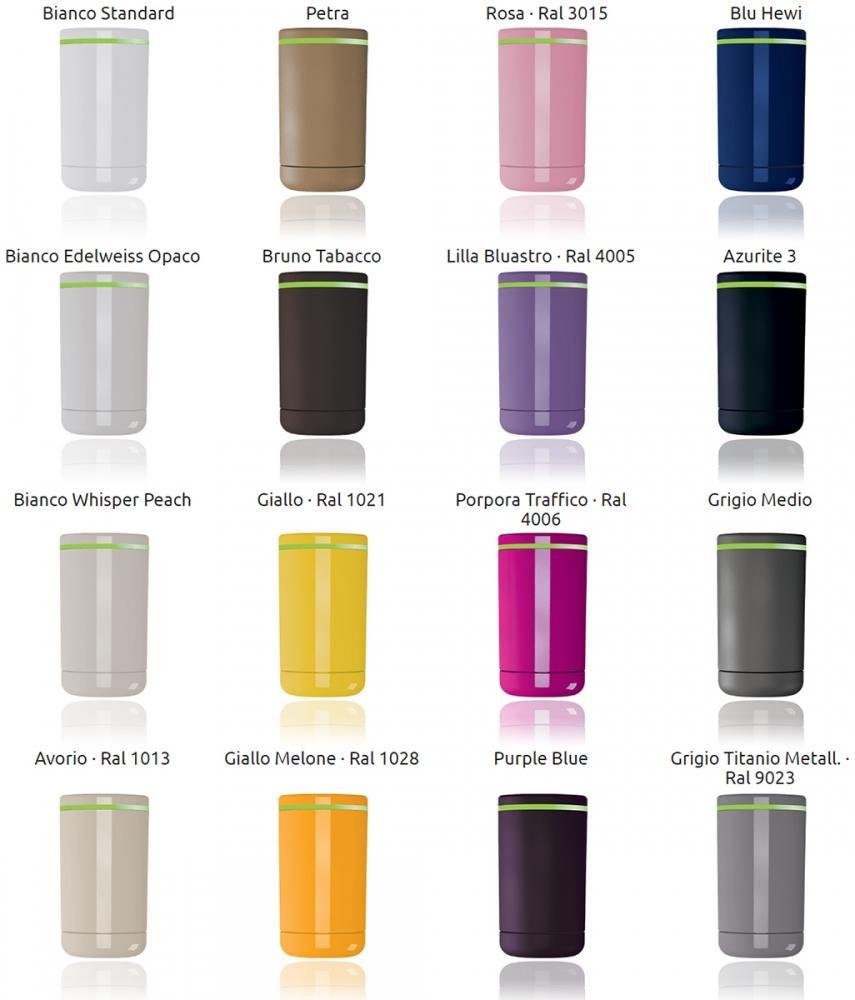 Palette di colori delle valvole termostatiche intelligenti Now di Irsap