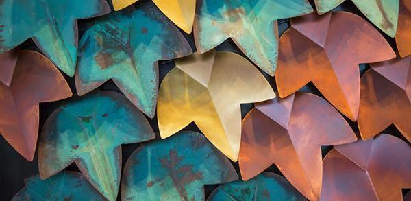 Rivestimento murale in piastrelle metalliche Vertical Green di De Castelli