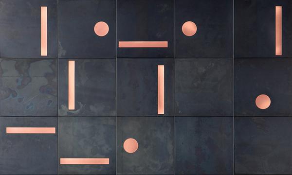 Rivestimento murale in metallo Yoko di De Castelli