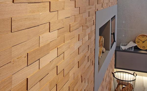 Rivestimento paritale in listelli di legno by Wodewa