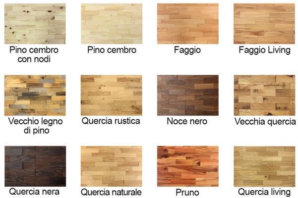 Essenze e finiture dei rivestimenti parietali in legno di Wodewa
