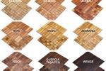 Essenze per i rivestimenti interni a mosaico in legno di Wodewa