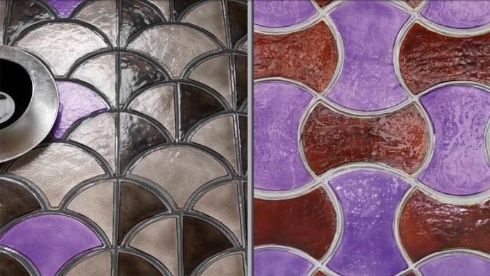Piastrelle in vetro per rivestimenti interni by Poesia