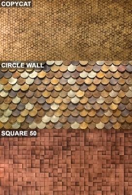 Rivestimenti murali a base geometrica modulare di De Castelli