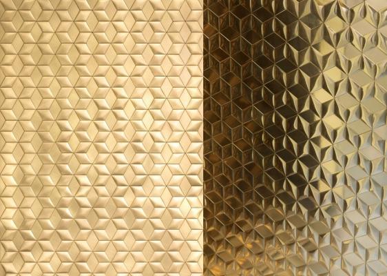 Rivestimento murale in piastrelle metalliche Mosaico di De Castelli