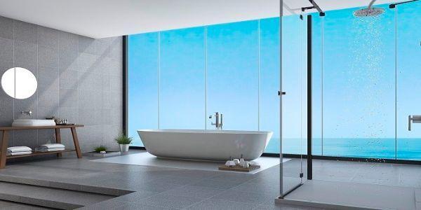 Pareti per doccia in vetro SGG Timeless