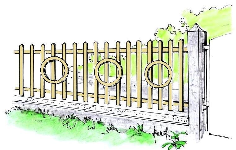 Verniciatura recinzione in legno