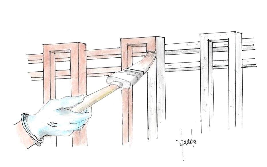 Verniciare recinzione in ferro
