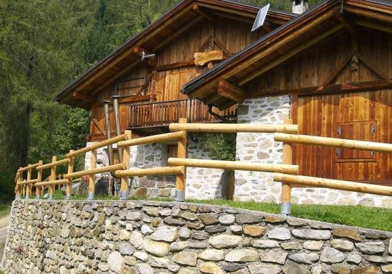 Recinzione baita in legno - Ruatti Legnami