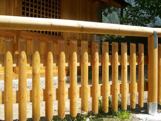 Recinzione in pali di legno - Ruatti Legnami