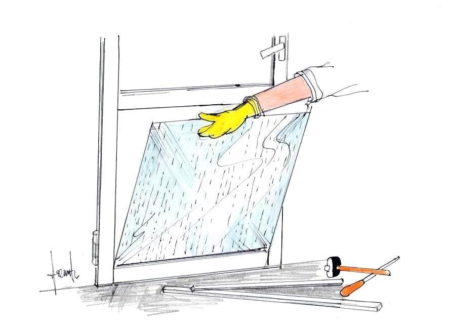 Montaggio pannello plexiglass su infisso