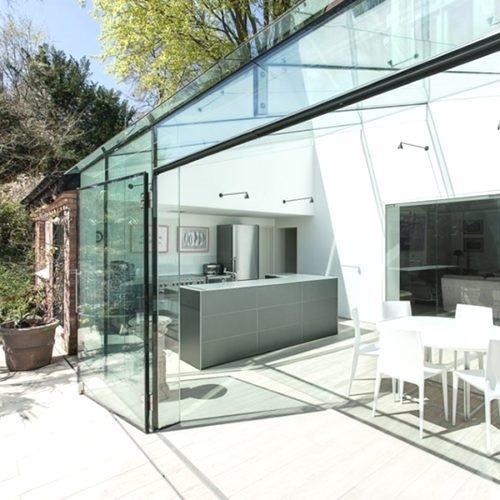 Veranda in lastre di plexiglass, realizzazione Co.In.