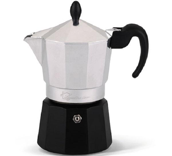 Variante bicolore per la macchinetta del caffè Samba Color, da Lagostina