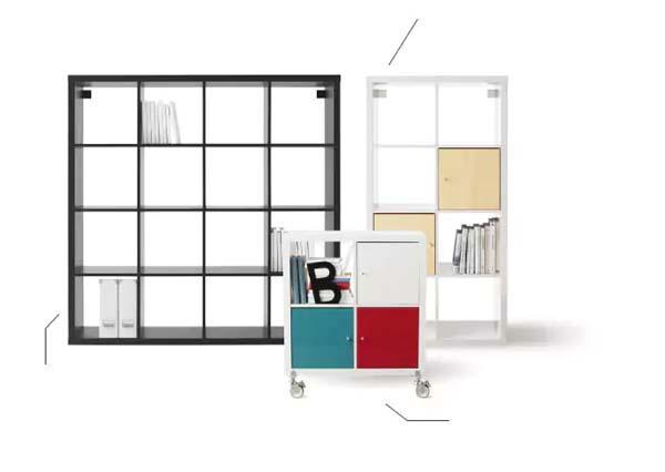 Modulo Kallax di Ikea per arredare l'angolo studio