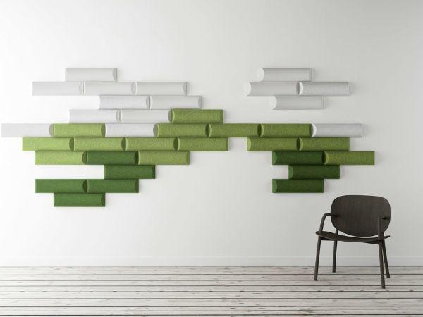 Pannello acustico di forma organica realizzato da Made Design Barcelona