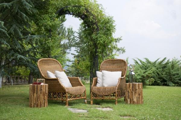 Anche gli elementi di arredo possono essere in bambù