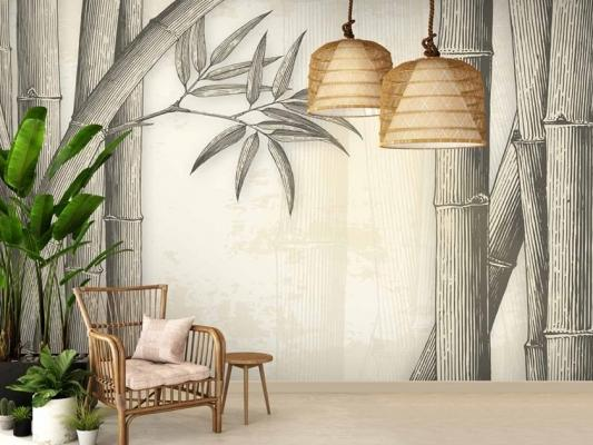 Il bambù è tornato prepotentemente anche negli elementi decorativi