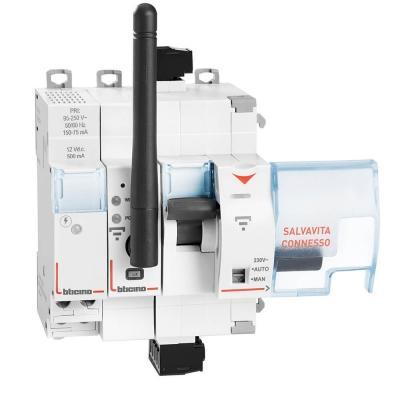 Bticino: gruppo di elementi componenti Salvavita Connesso da inserire nell'impianto elettrico.