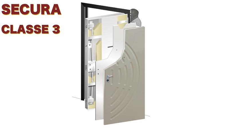 Porta blindata Secura classe 3
