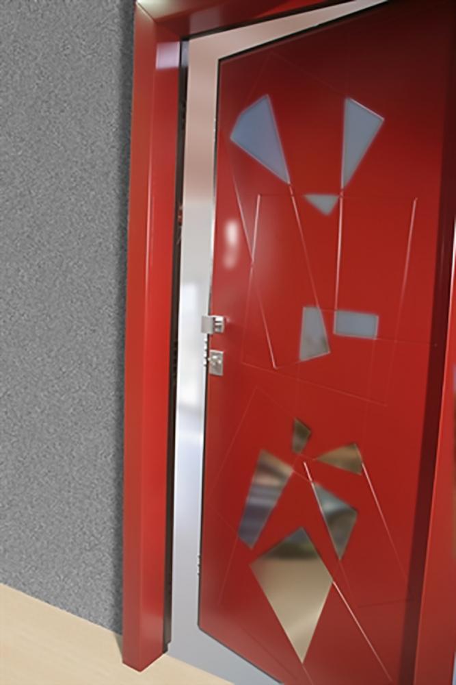 Porta blindata ingresso colorato
