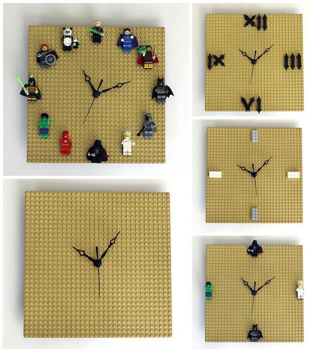 Orologi creativi con le Lego, da ournerdhome.com