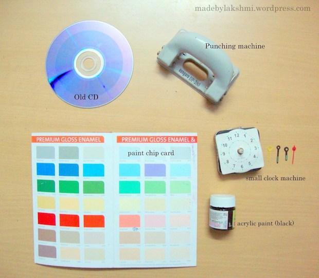 Idee per riciclare vecchi cd: orologio, parte 1, da madebylakshmi.com