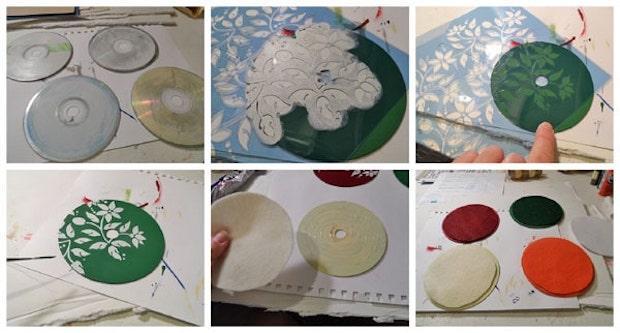 Sottobicchieri creativi con vecchi cd: tutorial, da craftsbyamanda.com