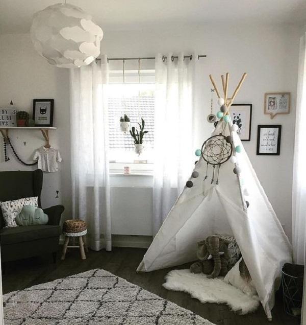 Una tenda da gioco nella camera dei bambini, da westwingnow.de
