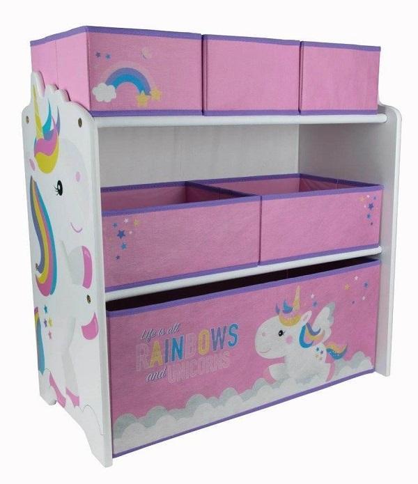 Scaffale portagiochi unicorno, da toctocshop