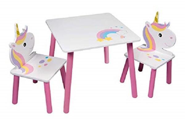 Set tavolo e sedie unicorno, da Global Design Concepts